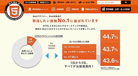 HTML5プロフェッショナル認定資格